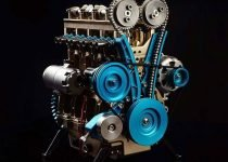 Mini 4 cylinder car engine metal model kit